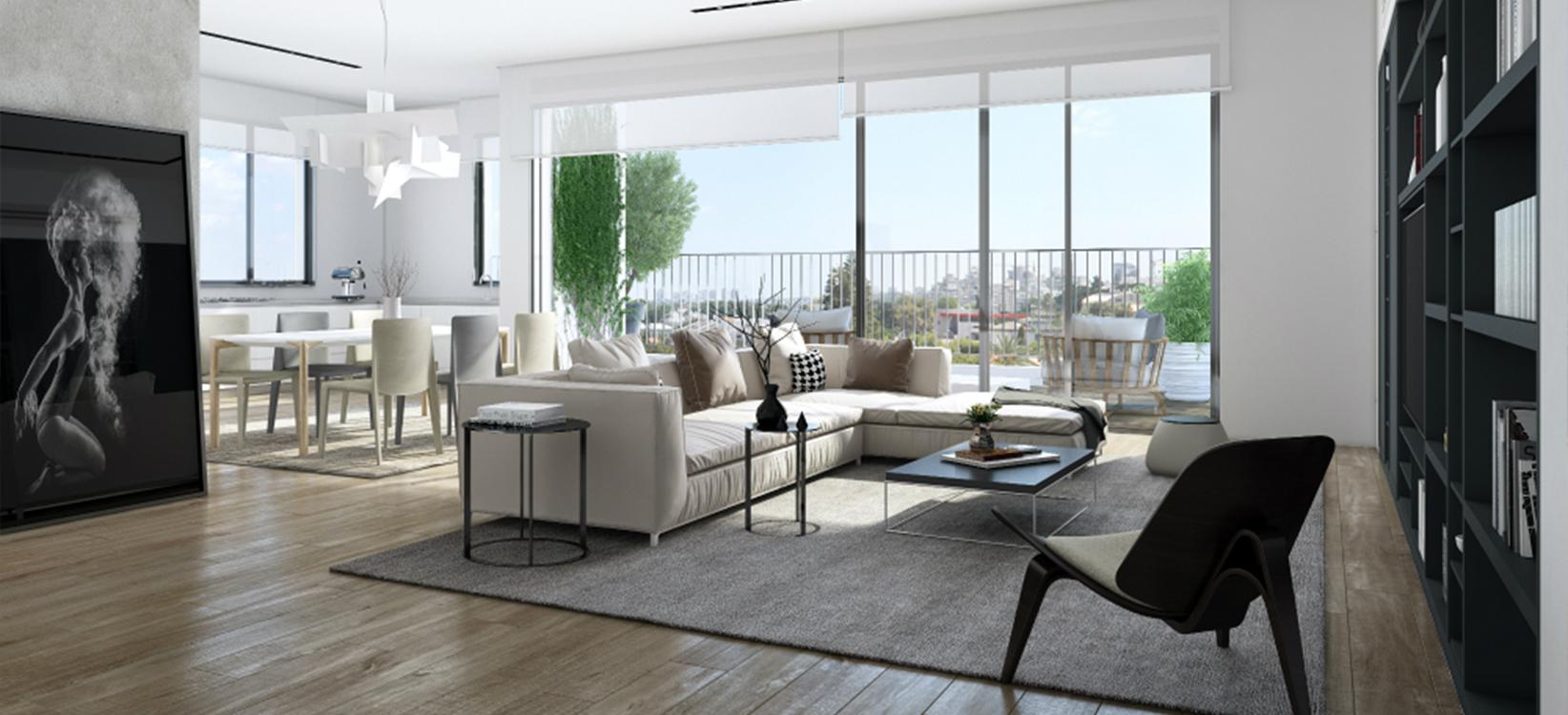 דירות אחרונות בפרויקט קליי 18 בתל אביב: דירות 3+4 חדרים בצפון החדש